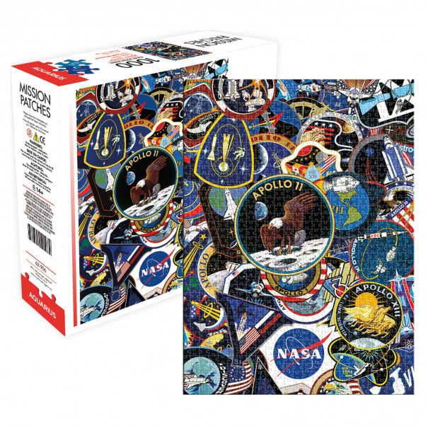 NASA Mission Patches 1000 Piece Jigsaw Puzzle - 1
