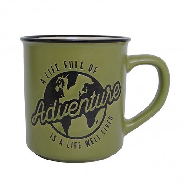 A Life Full Of Adventure Manly Mug