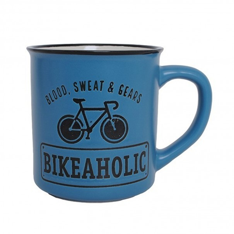 Blood, Sweat & Gears Bikeaholic Manly Mug
