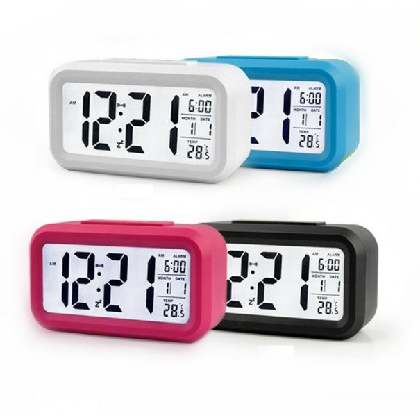 LCD Digital Desk Clock with Alarm and Snooze Function - 1