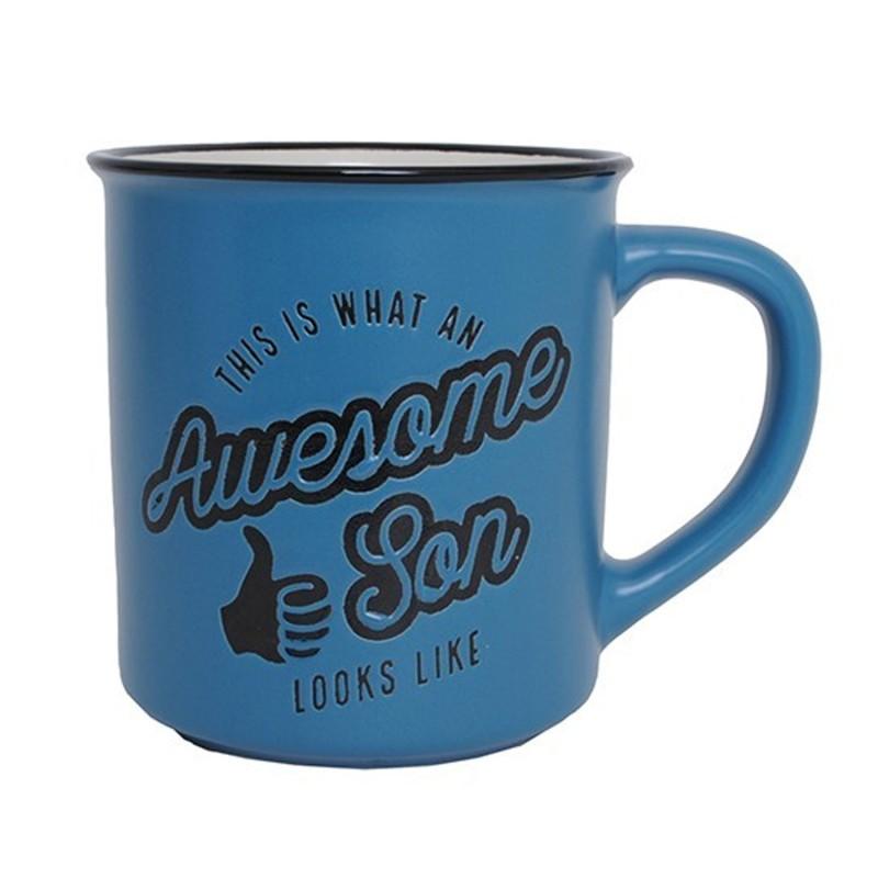 Awesome Son Manly Mug - 1