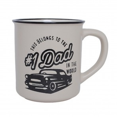 No. 1 Dad Manly Mug - 1