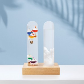 Dual Weather Station - Galileo Thermometer and Storm Glass Set - 1