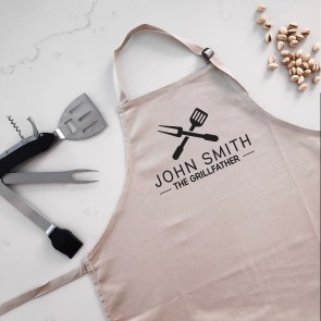 The Grillfather - Personalised Apron Beige - 1