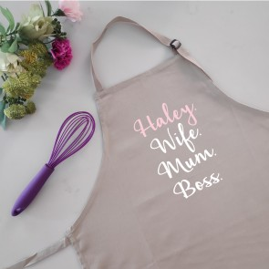 copy of Wife Mum Boss - Personalised Apron Black - 1
