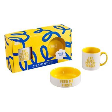 Cat Lover Mug and Pet Bowl Set - 1