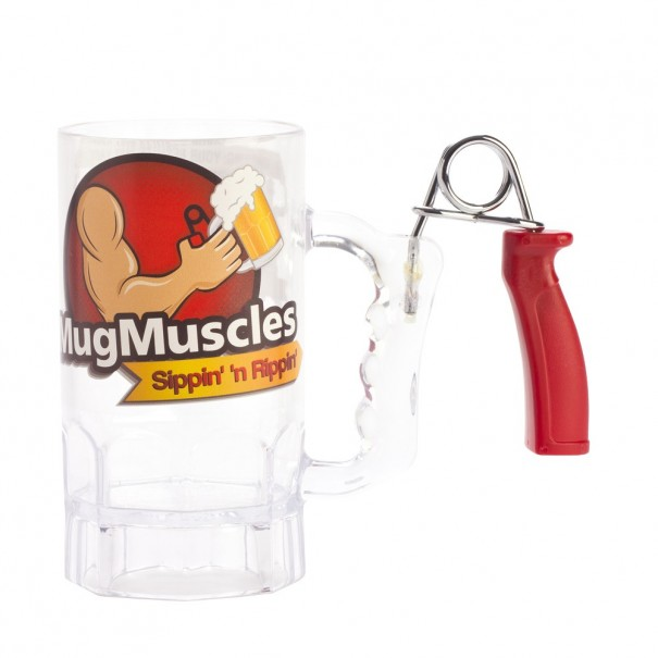 Muscle Beer Mug With Muscle Grip