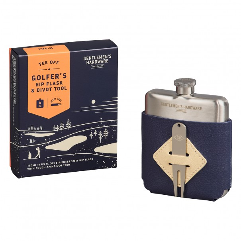 Golfers Hip Flask & Divot Tool by Gentlemen's Hardware - 1