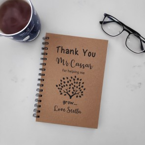 Thank You - Personalised Notebook for Teacher - 3