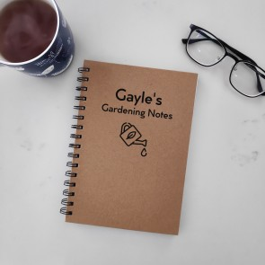 Gardening Notes - Personalised Hardcover Spiral Notebook - 1