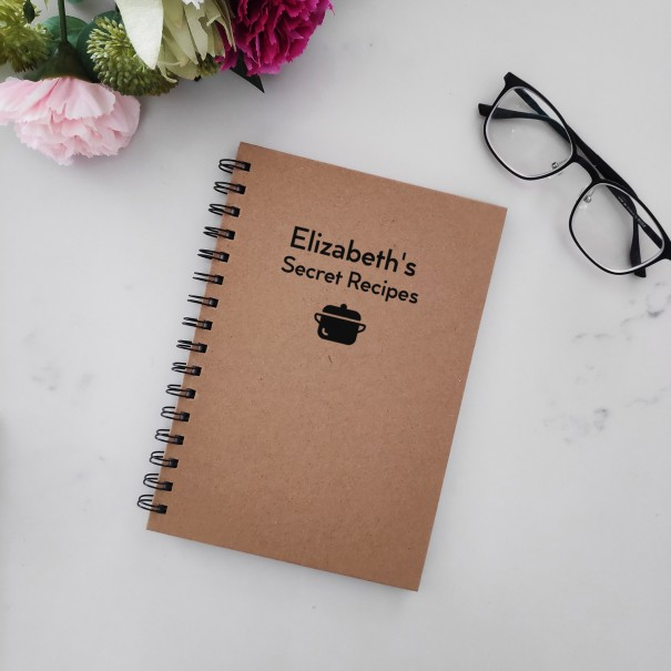 Secret Recipes - Personalised Hardcover Spiral Notebook - 1
