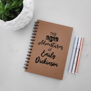 Epic Adventures - Personalised Hardcover Spiral Notebook - 1