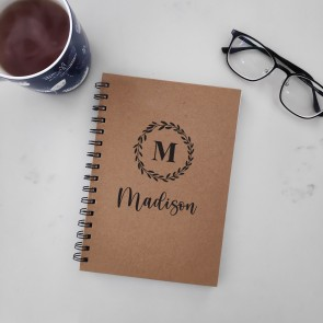 Personalised Notebook with Name and Initial - 2