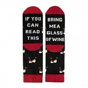 Bring Me A Glass of Wine Socks - 1