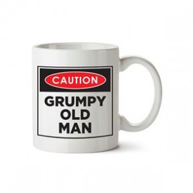 Caution Grumpy Old Man Mug - 1