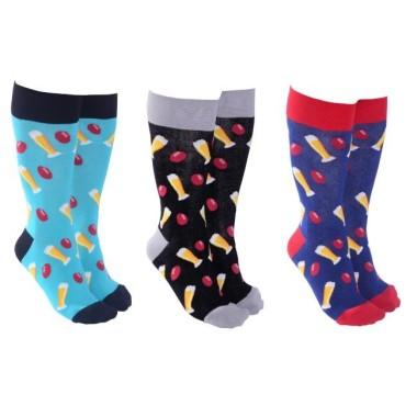Beer and Footy Socks by Sock Society - 1 Pair - 1
