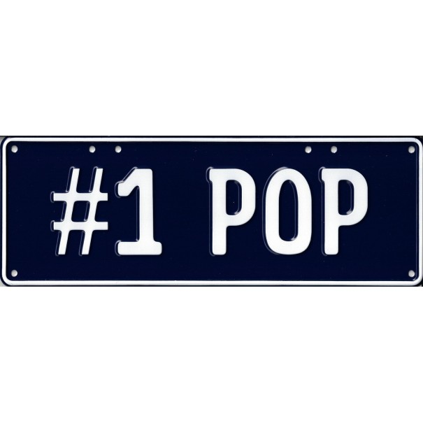 No. 1 Pop Novelty Number Plate - 2