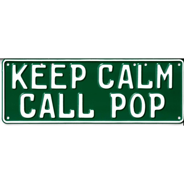 Keep Calm and Call Pop Novelty Number Plate - 1