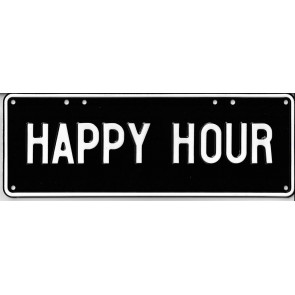 Happy Hour Novelty Number Plate - 1