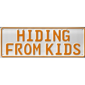 Hiding From Kids Novelty Number Plate - 1