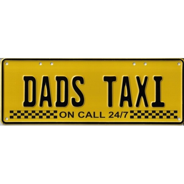 Dad's Taxi Novelty Number Plate - 1