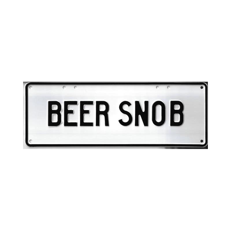 Beer Snob Novelty Number Plate - 1