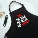 The Man The Myth The Legend - Personalised Apron Black - 3
