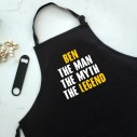 The Man The Myth The Legend - Personalised Apron Black - 1