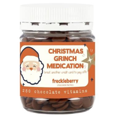 Christmas Grinch Medication Chocolate Vitamins - 1