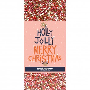 Holly Jolly Merry Christmas Freckles Chocolate Bar - 1