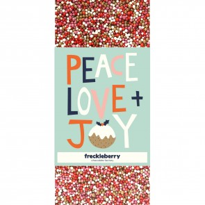 Love, Peace & Joy Christmas Freckles Chocolate Bar - 1