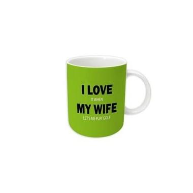 I Love My Wife Golf Mug - 1