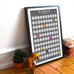 100 Movies Scratch Off Bucket List Poster by Gift Republic