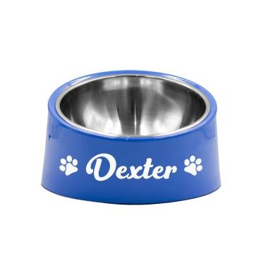 Personalised Blue Pet Bowl - Medium - 2
