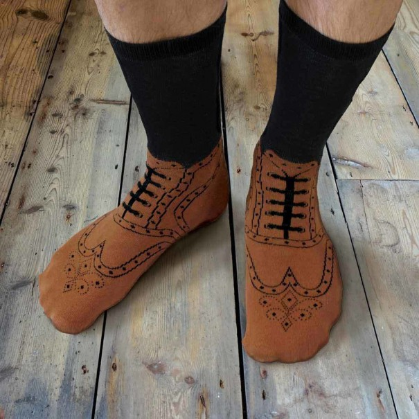 Brogue Socks by Ginger Fox