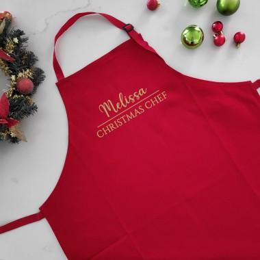 Personalised Christmas Apron - Christmas Chef - 1