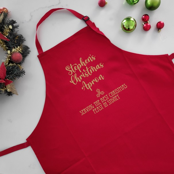 Personalised Christmas Apron - Best Christmas Feast - 1