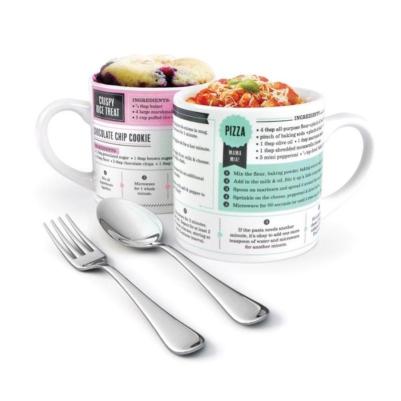Grub Mugs Microwave Recipe Mug - Set of 2 Sweet & Savoury - 1
