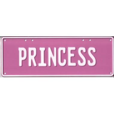 Princess Novelty Number Plate - 1