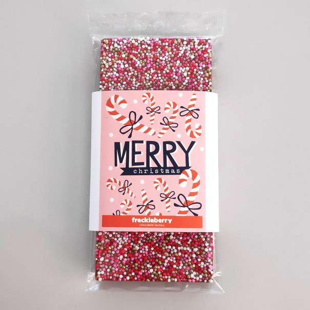 Merry Christmas Freckles Chocolate Bar - 1