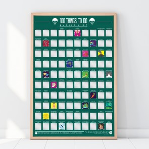 100 Things To Do Scratch Off Bucket List Poster by Gift Republic - 2
