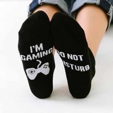 Do Not Disturb, I'm Gaming Socks - 1
