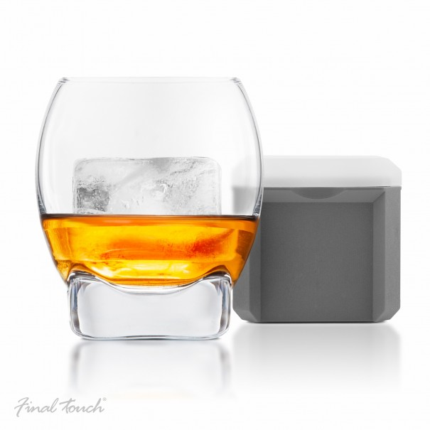 Colossal Ice Cube Whisky Glass by Final Touch - 1