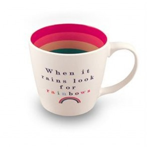 When It Rains Look For Rainbow Inside Out Mug - 1