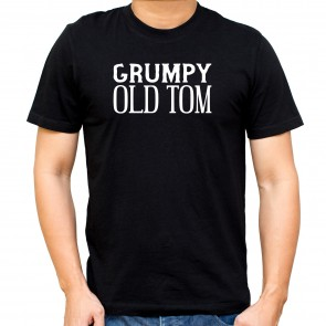 Personalised Grumpy Old Man Black T-Shirt - 1
