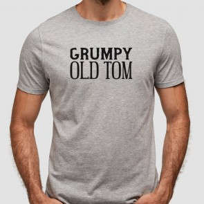 Personalised Grumpy Old Man Grey T-Shirt - 1