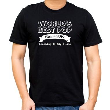 Personalised World's Best Pop Black T-Shirt - 1