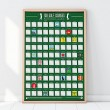 100 Golf Courses Scratch Off Bucket List Poster by Gift Republic - 1