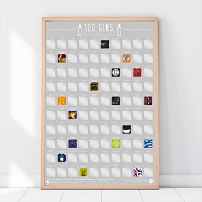 100 Gins Scratch Off Bucket List Poster by Gift Republic - 1