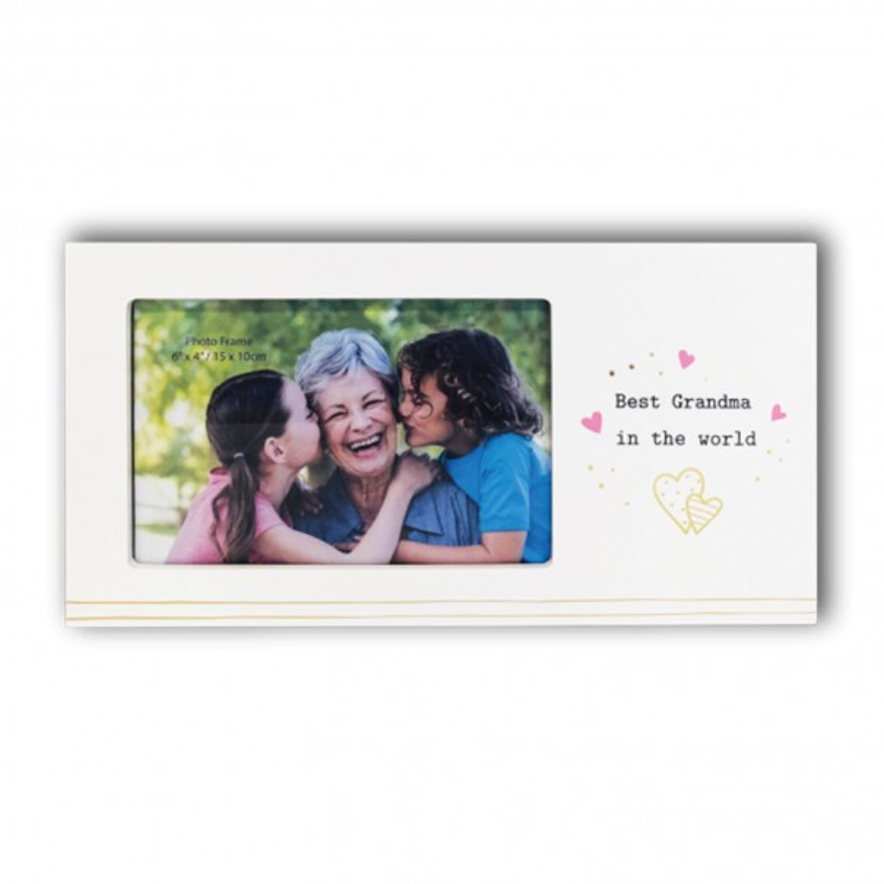 Best Grandma In the World Photo Frame - 1